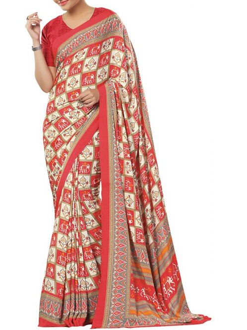 Captivating Red Color Sarees Online Shopping Low Price