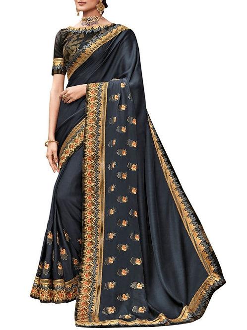 Lovely Black Latest Saree Design With Price