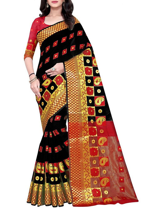 Fabulous Black Latest Saree Design