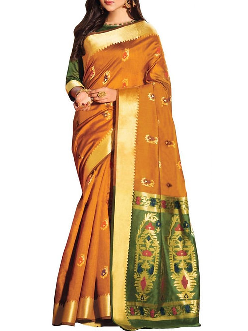 Dashing Mustard Color Fashion Sarees Online Shopping