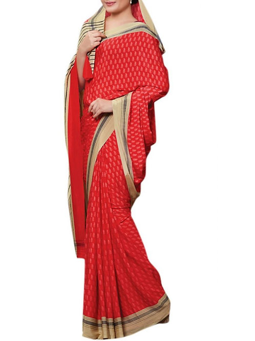 Adorable Red Color South Indian Sarees