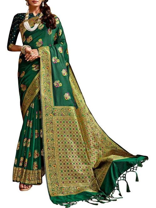 Mind-Blowing Green Wedding Saree
