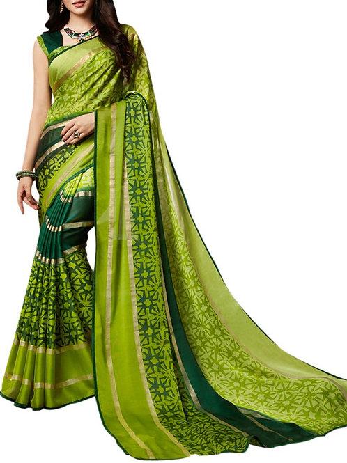 Divine Light Green Color Saree Fashion