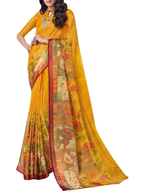 Exclusive Yellow Indian Saree Collection