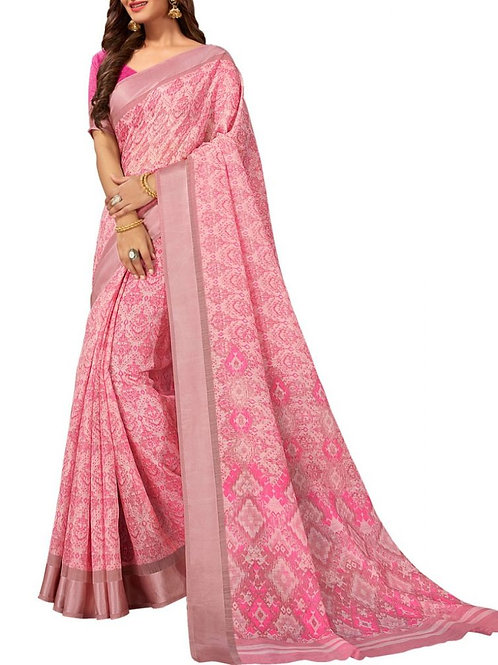 Chic Light Pink Color Buy Designer Saree