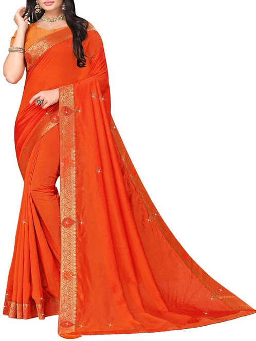 Glamorous Orange Saree Sale