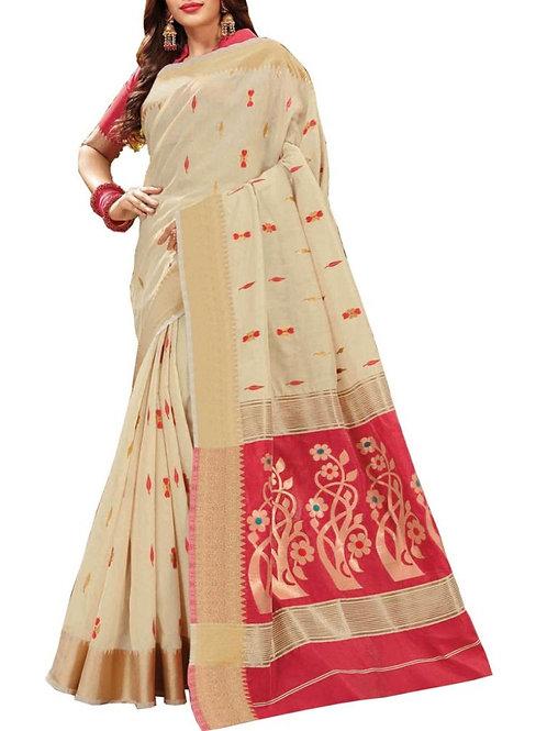 Magnificent White Color Saree Online Low Price