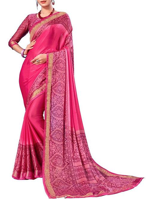 Graceful Pink Color Best Designer Sarees Online