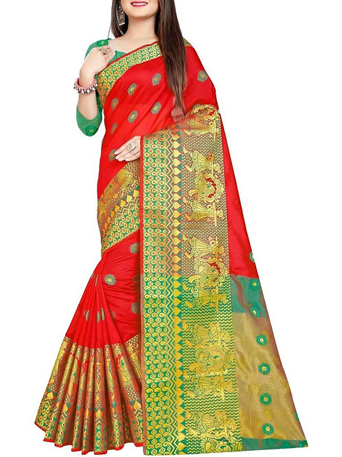 Fabulous Red Latest Sarees With Price