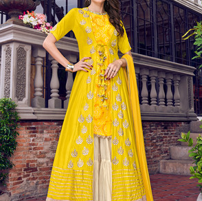Fabulous_Yellow_Color_Sharara_Bridal_Dre
