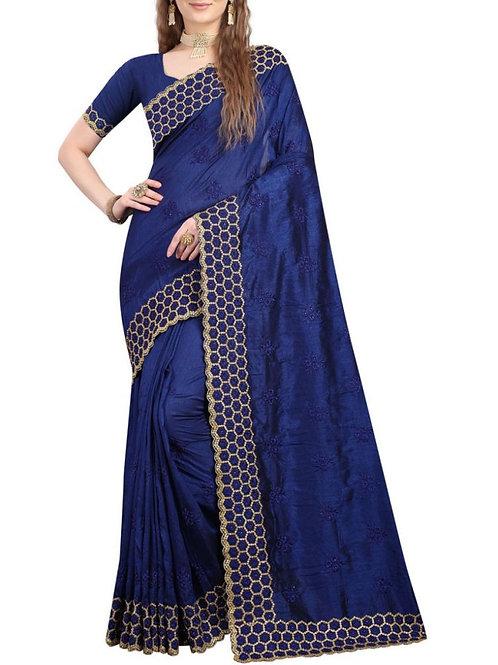 Moving Blue Beautiful Saree