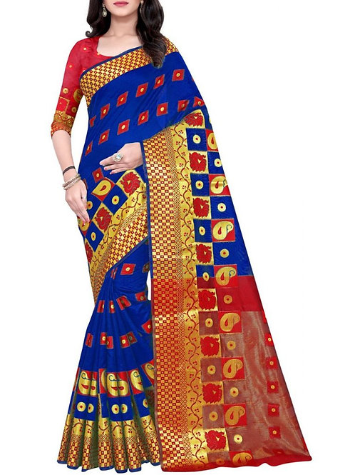 Glorious Blue Buy Sarees Online