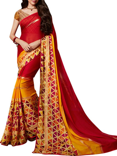Overpowering Red Color Women Saree