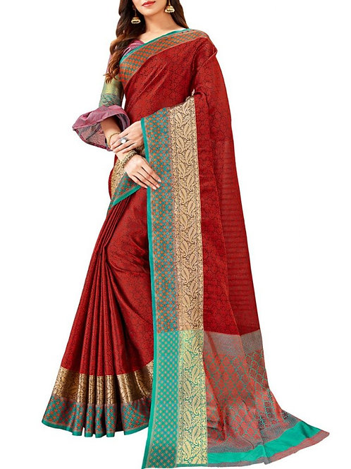 Presentable Maroon Color Gorgeous Sarees Online Shopping