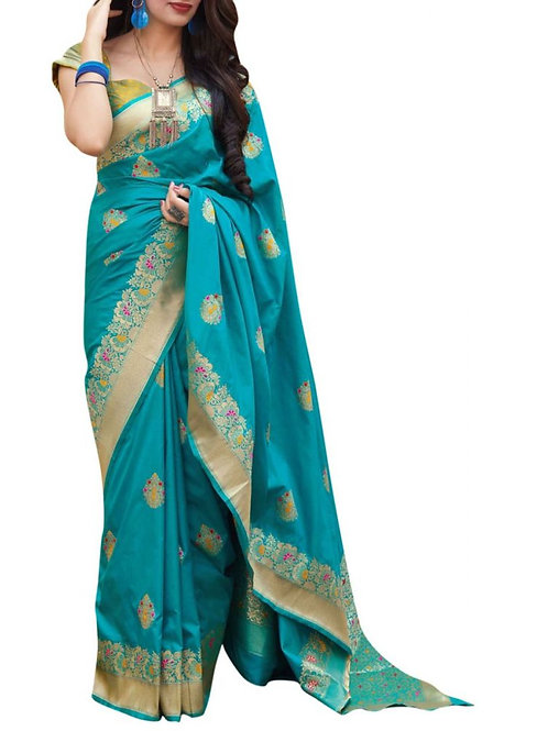Adorable Firozi Sarees Collection With Price