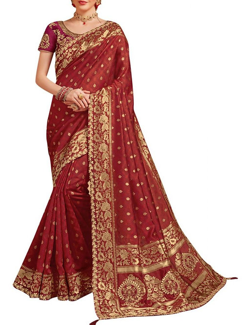 Excellent Red Silk Sarees Online Shopping