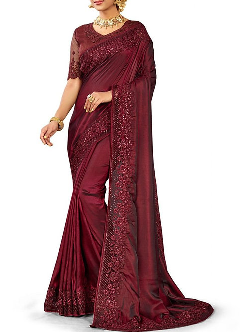 Blissful Wine Party And Wedding Sarees