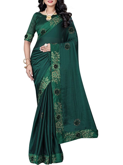 Attractive Forest Green Saree Collection