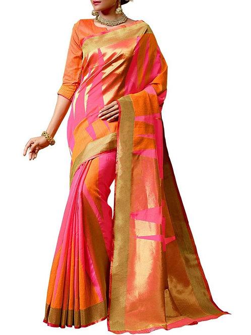 Glamorous Pink Color Best Saree