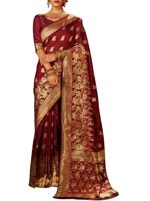 Attractive Maroon Sarees Online
