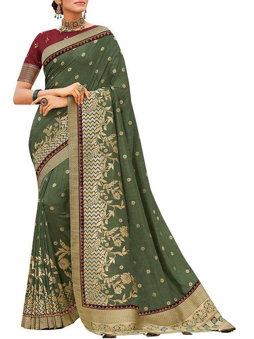 Elegant Mehendi Beautiful Sarees For Sale