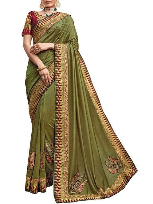 Exquisite Mehendi Wedding Sarees Online
