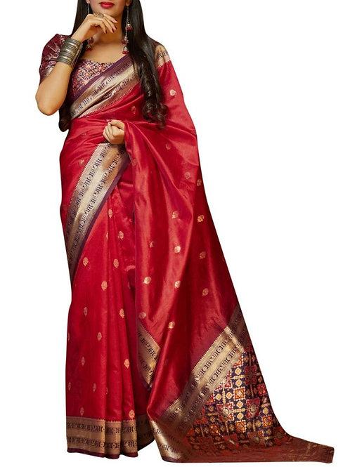 Breathtaking Red Latest Saree Design