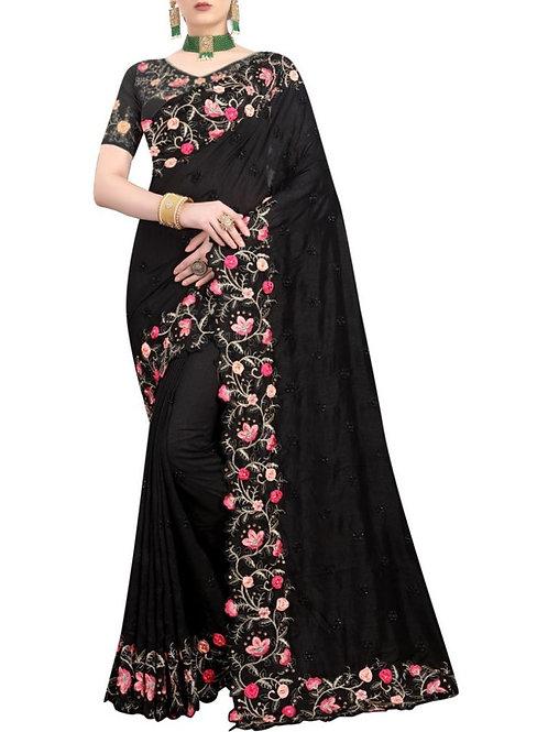 Good-Looking Black Buy Sarees Online