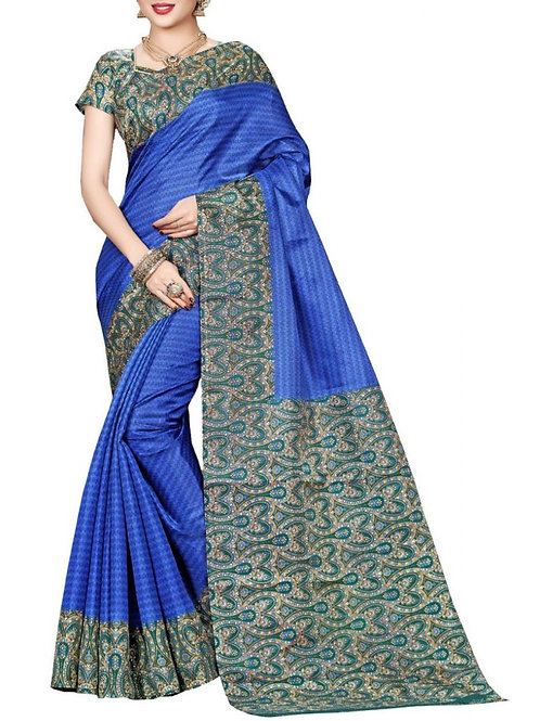 Comely Blue Color Indian Sarees For Sale
