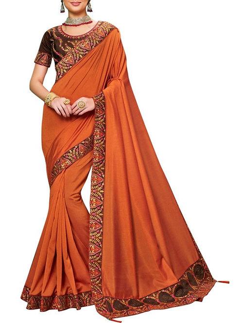 Marvelous Orange Online Saree Shop