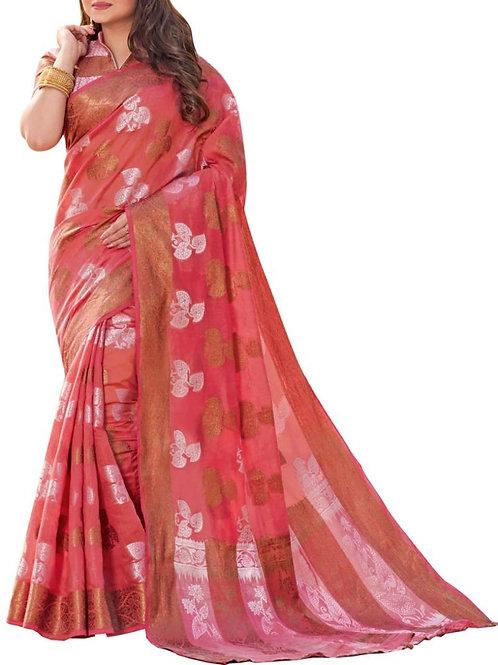 Pleasant Pink Color Women Saree