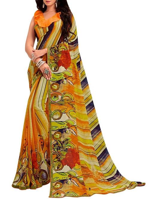 Great Multi Georgette Saree Blouse Designs