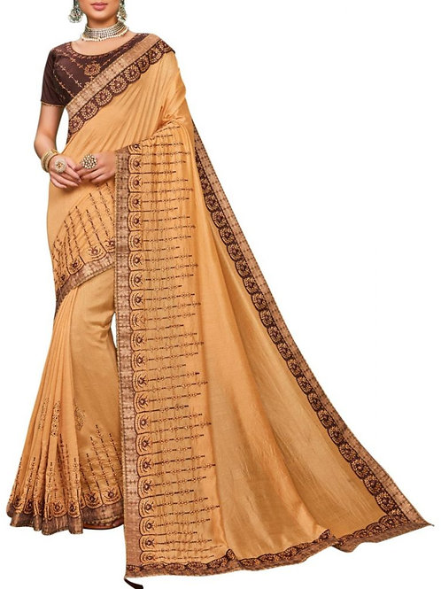 Perfect Beige New Sarees Online Shopping
