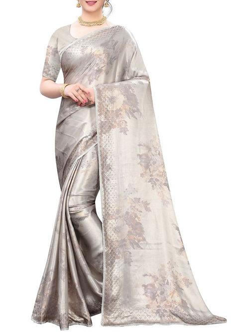 Awe-Inspiring Grey Indian Saree