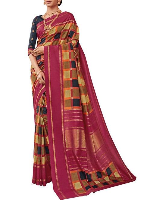 Chic Multi Indian Saree Design