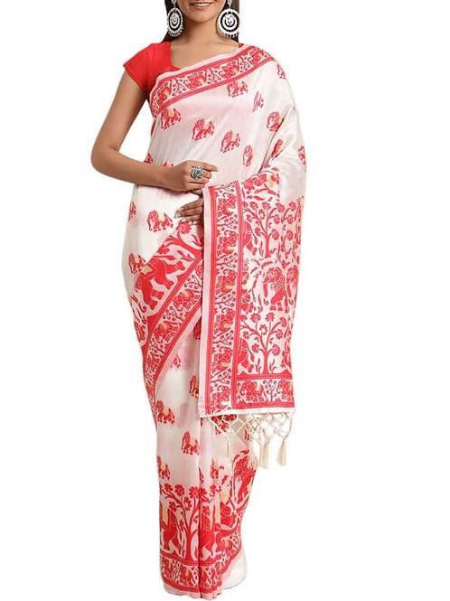 Beautiful White Sarees Collection With Price