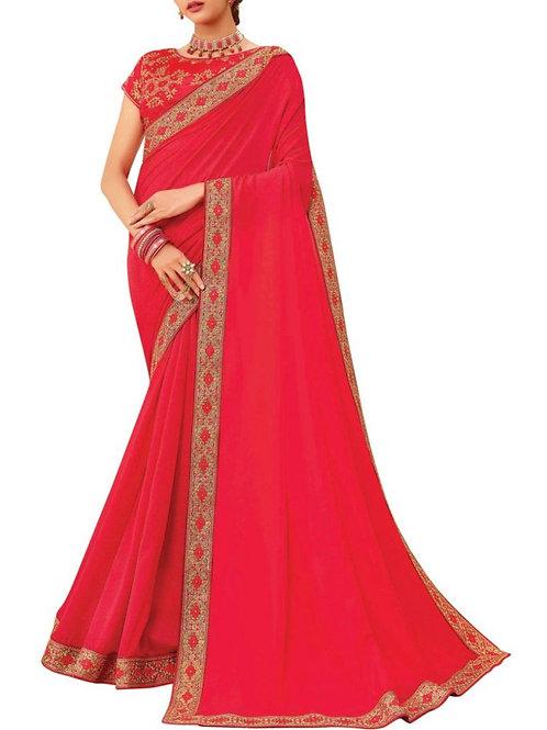 Mind-Blowing Rani Pink Latest Saree Design With Price
