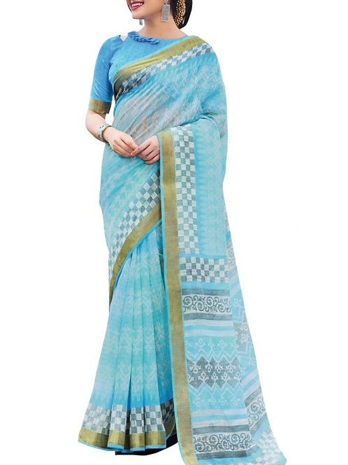 Mind-Blowing Sky Blue Color Best Online Saree Shopping