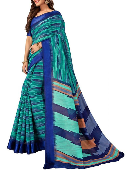 Gratifying Sky Blue Color Saree Shopping Sites