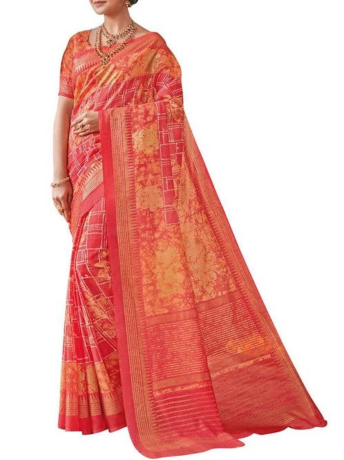 Pleasing Pink Silk Sarees Online