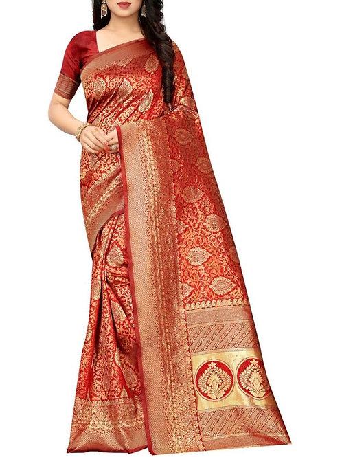 Wedding Wear  Red New Saree Design