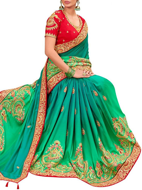 Amazing Green Saree Designs With Price In India