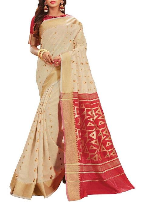Gorgeous White Color Fashion Sarees Online Shopping
