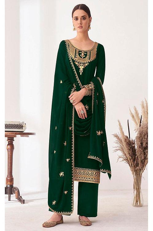 Georgette Green Designer Salwar Suit