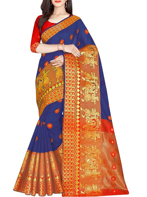 Awesome Blue Latest Party Wear Sarees