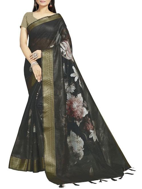 Dreamy Black South Indian Saree