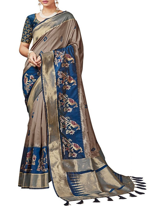 Dreamy Light Brown Latest Sarees With Price