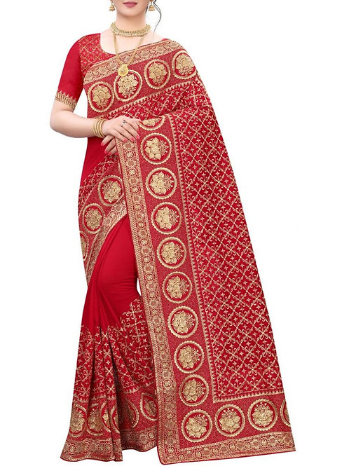 Agreeable Red Sarees Collection With Price