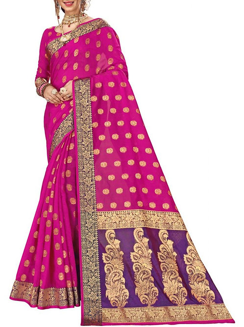 Beautiful Rani Color Bollywood Sarees