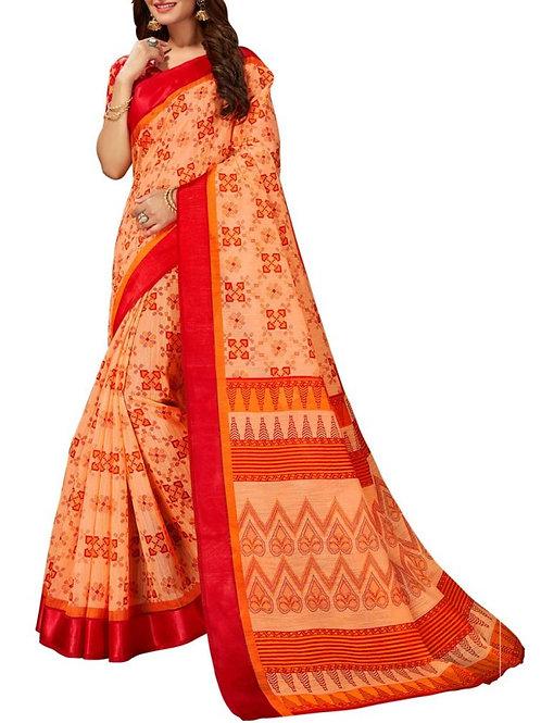 Heavenly Peach Color Designer Wear Sarees
